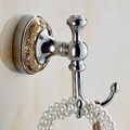 Free Shipping Wholesale And Retail Wall Mounted Scarf Coat Hat Rack Bright Chrome Towel Hooks Towel