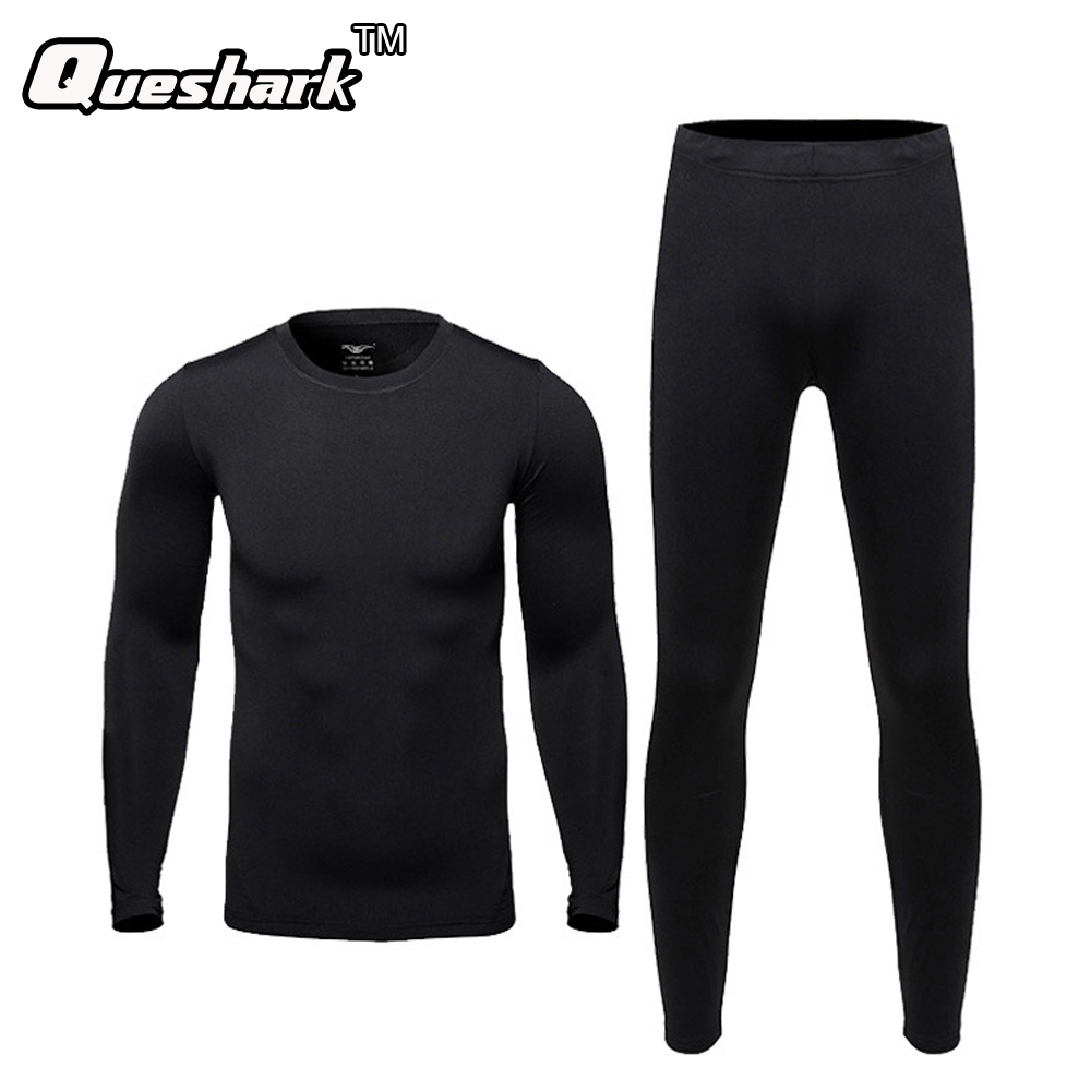 Men Outdoors Winter Sports Thermal Underwear Set Quick-dry Technology Surface Warm Elastic Force Sportswear