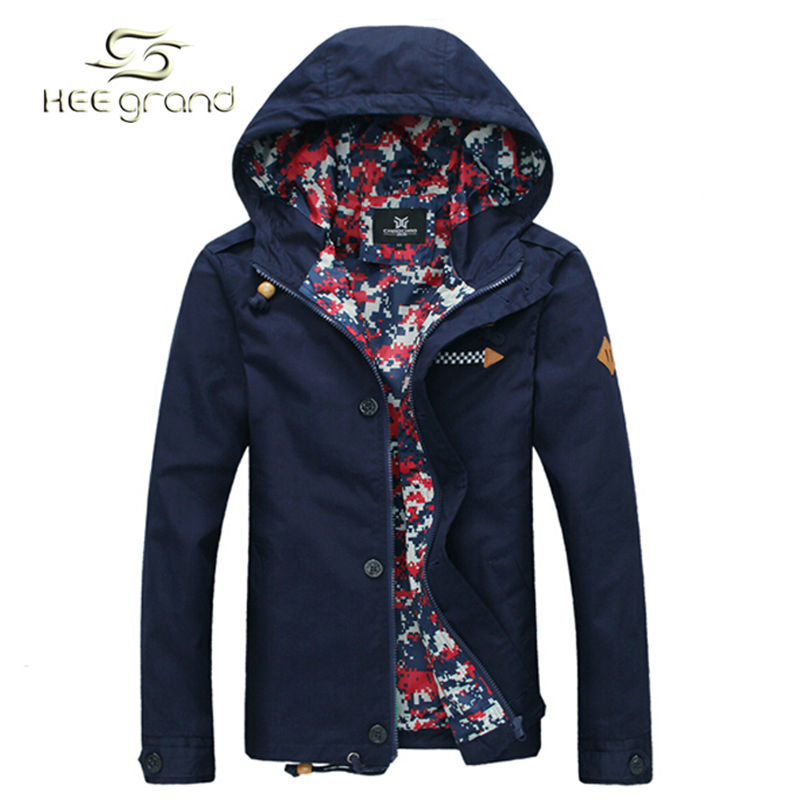 Men's Jacket 2015 Spring New Arrival Men Jacket With Hood Fashion Jacket Casual Spring & Autumn Jacket 5 Colors MWJ806(China (Mainland))