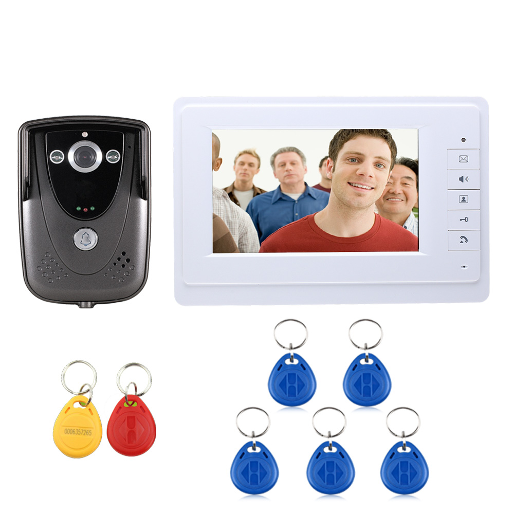 Free Shipping 7 Inch TFT Touch Screen Color Video Door Phone Night Version Intercom System<br><br>Aliexpress