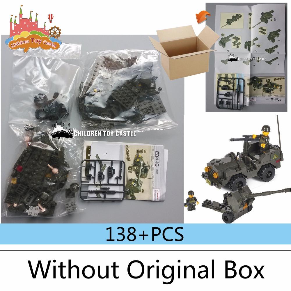 B5900 Army Field Training antiaircraft guns 3D Construction Plastic Model Building Blocks Bricks Compatible With legoe(China (Mainland))