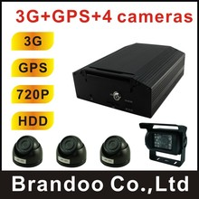 Complete 3G bus DVR system,3G and GPS for live view and real time tracking, used for bus,ship,police car,urban bus,trian(China (Mainland))