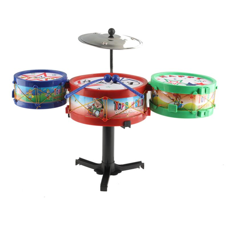 10Pcs/Set Kids Plastic Drum Set Toy Musical Instruments Baby Grasp Sound Drum Toys for Children(China (Mainland))