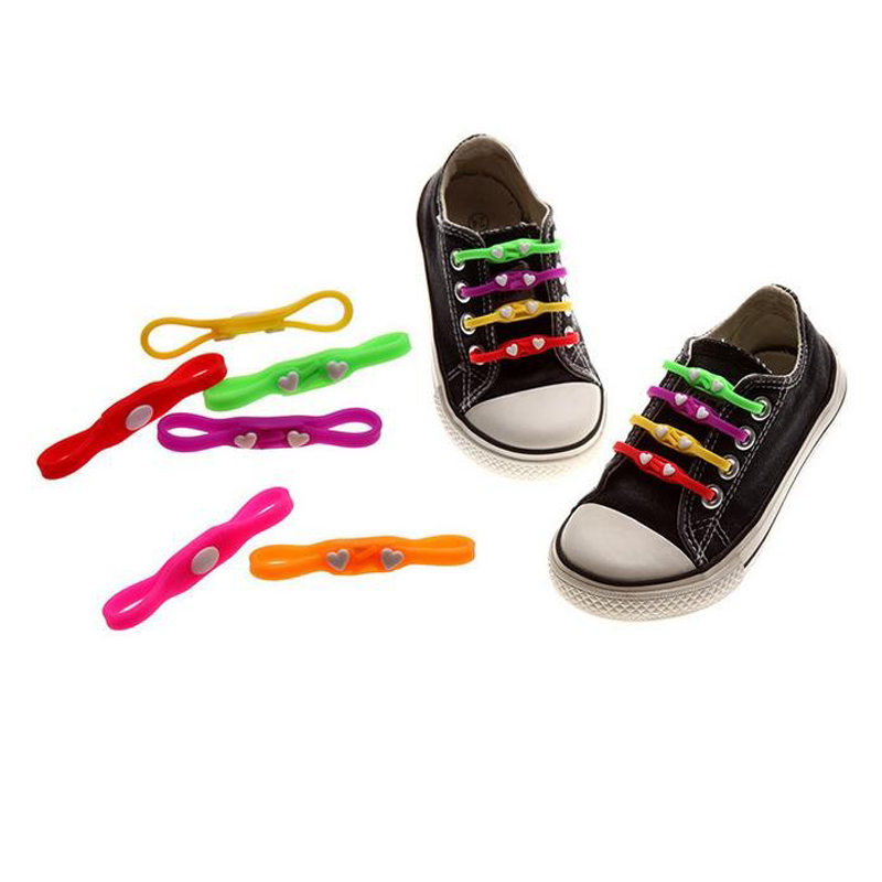 1pc New Design Heart Children adult Tie Rubber Elastic Shoelace Sneaker Shoe Laces Running Shoelaces Athletic Shoe laces Li178<br><br>Aliexpress