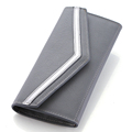 Solid Color Simple Large Cacity Change Purse Women Occident Style Fashion Ultra thin Bi fold Wallet