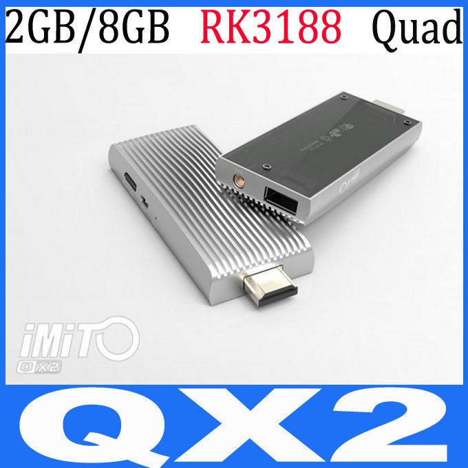 imito QX1 QX2 RK3188 Quad Core Android 4.2 2GB RAM  8gb rom Smart Mini TV Box IPTV HDMI HDMI Bluetooth miNI PC Stick TV Dongle