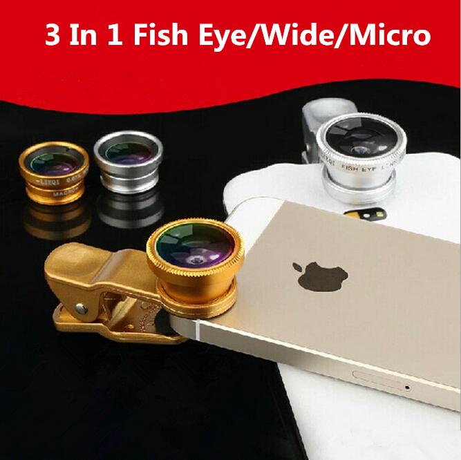 3 in 1 Wide-Angle Macro Lens 180 Fish Eye fisheye lente olho de peixe For iPhone For Samsung mobile phones len of Digital Camera(China (Mainland))
