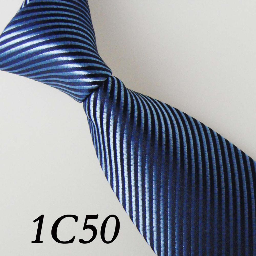2016 Latest Style Ties&Men's Dresses Ties Navy Blue/Cyan Striped Design Unique Men's Neckties&Gentlemen Neckties&Men's Neck Tie