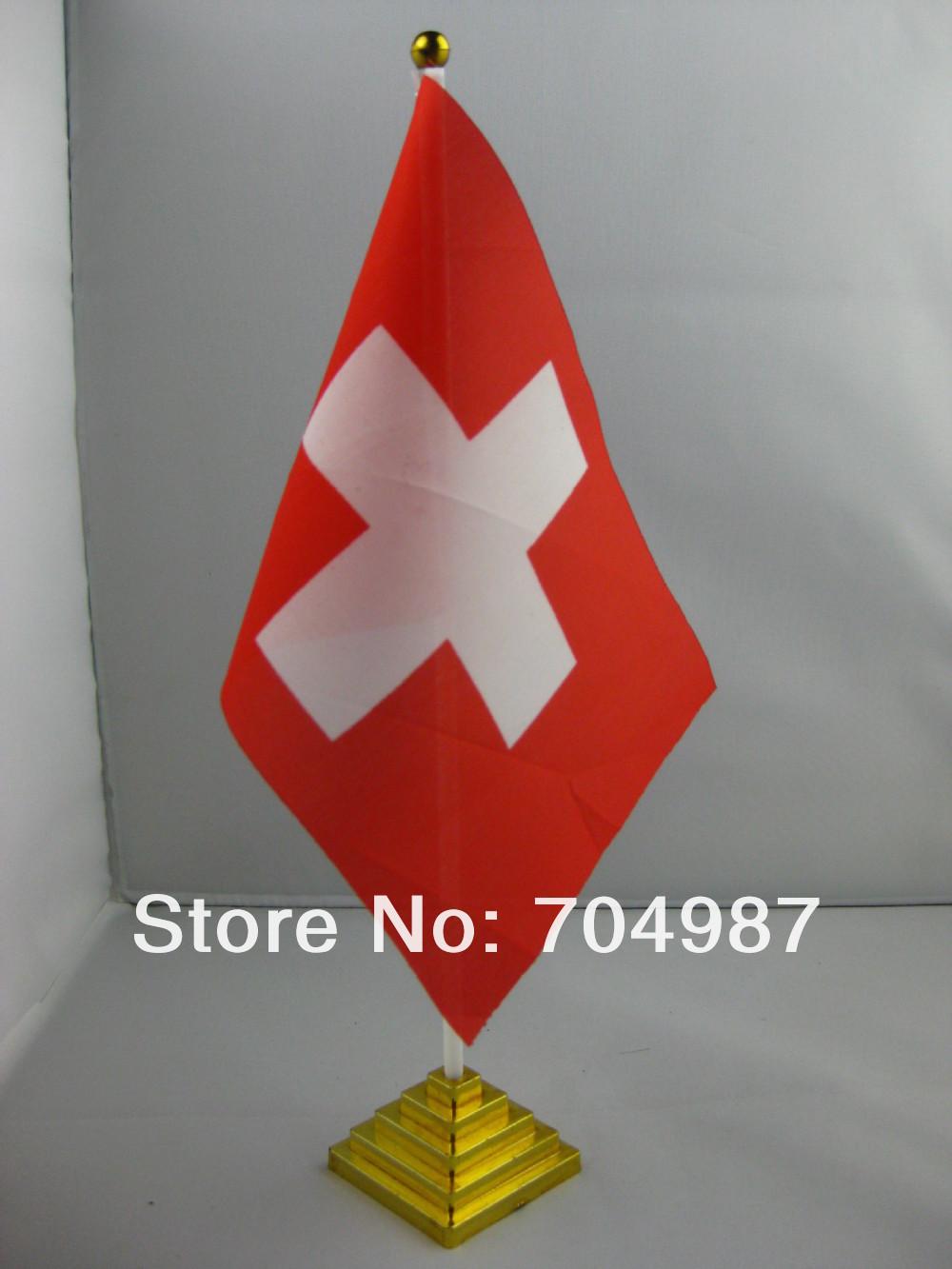 Switzerland table flag desk flag table banner desk banner free shipping(China (Mainland))