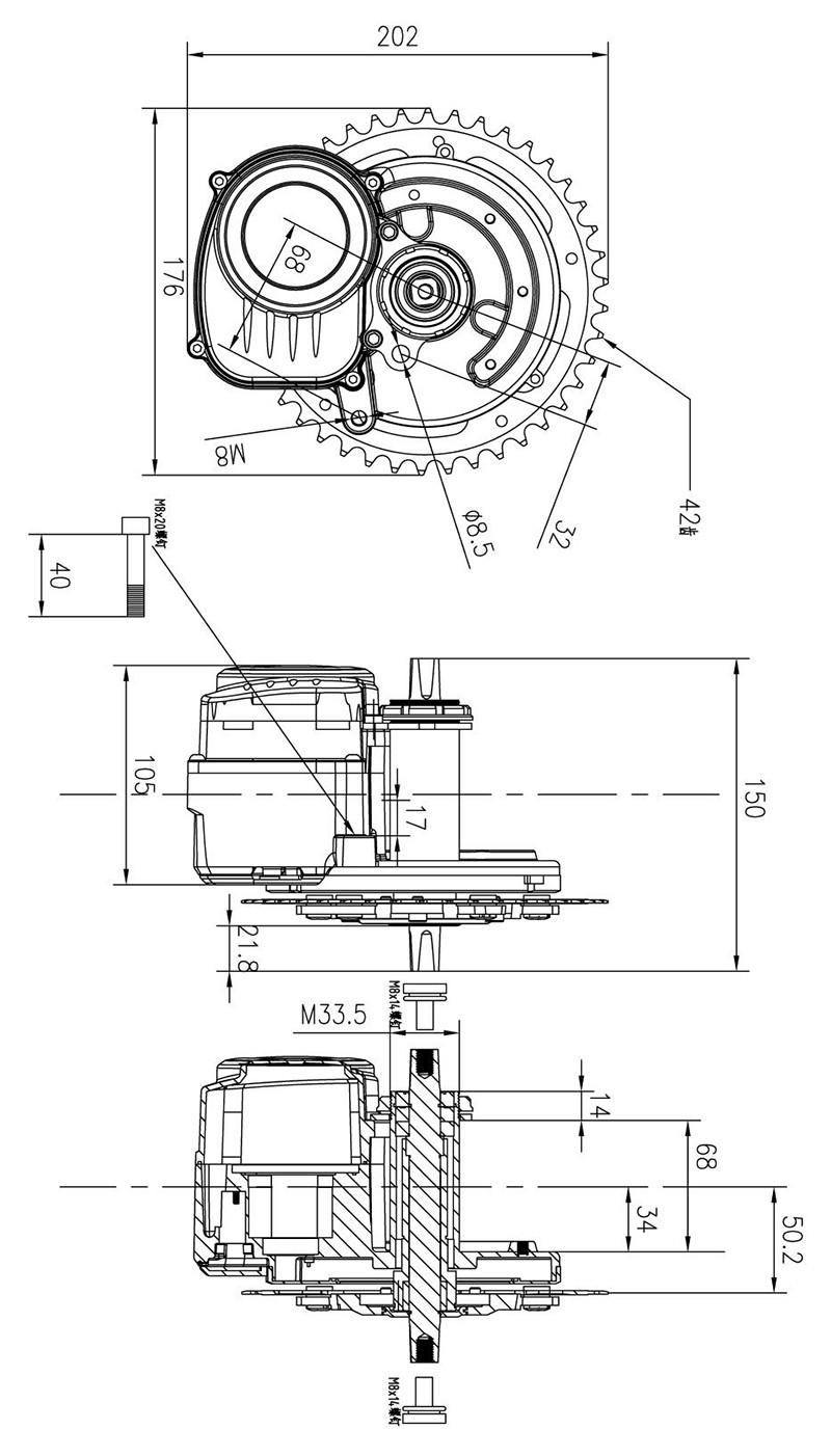 Schema Elettrico Ebike : Tongsheng tsdz diy conversion ebike kit mid drive motor