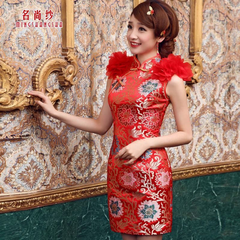 Cheongsam dress fashion summer chinese style formal design short bridal evening qp-115 - nick lang's store