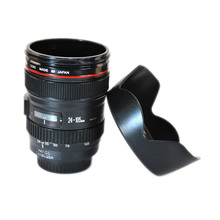 Camera Lens Cup 24-105mm 1:1 Scale Special Present Plastic Milk Beer Coffee Tea Mug Cup(China (Mainland))
