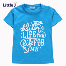 Buy Little J 3-8Y Letter Printed Boy T-Shirt Kid Short Sleeve Girl T-Shirts Summer Tees Top Cotton Children T-Shirts Trolls Clothes for $3.52 in AliExpress store