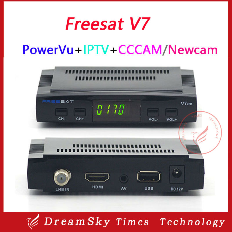 10pc 1080P HD FTA satellite receiver Freesat V7 DVB-S2 set top box support biss key, powervu,cccam,youtube,youporn and usb wifi(China (Mainland))