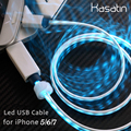 100 Quality Guarantee 8 pin Data Sync Adapter LED Light USB Charger Cable for iPhone 5