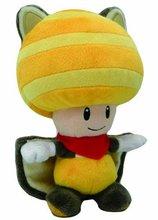 Anime Super Mario Bros Soft plush Yellow Flyinq Squirrel Toad plush Toys