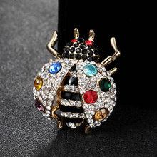 Baru Warna Merah Berlian Imitasi Serangga Bros untuk Pria Perhiasan Merek Enamel Jilbab Pin Syal Pin Wanita Tas Aksesori(China)