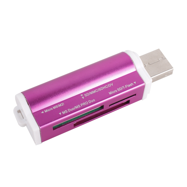 Micro SD / TF M2 MMC SDHC MS Duo High Speed multi usb 2.0 all in one card reader(China (Mainland))
