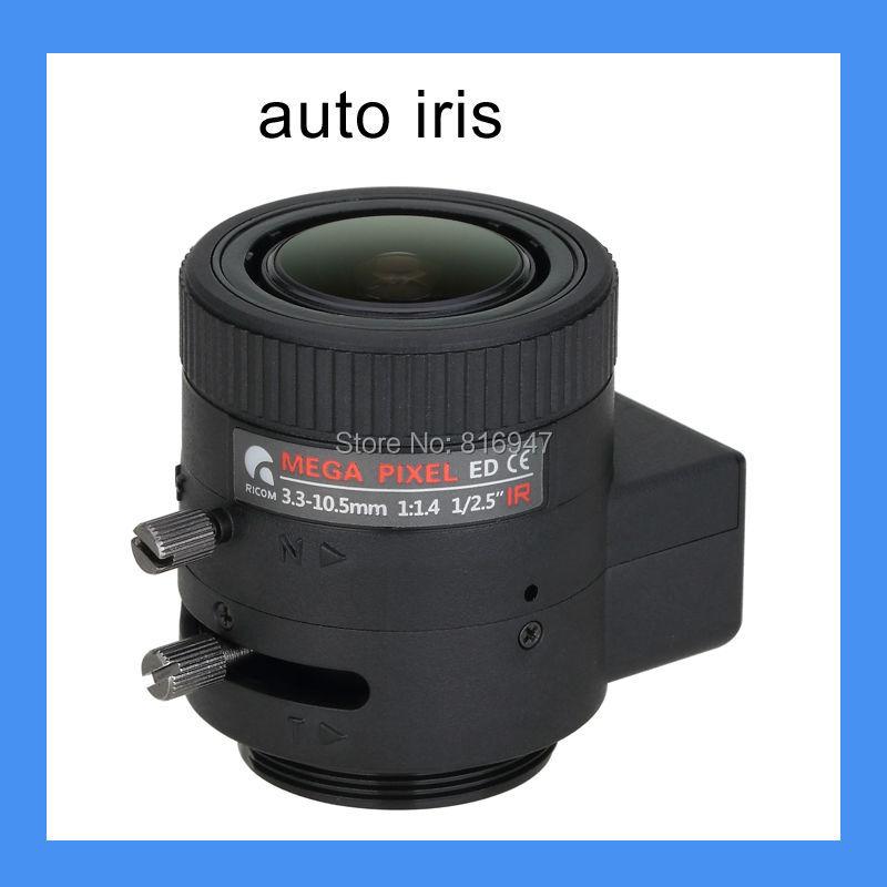 3.3-10.5mm auto iris 1/2.5 inch F1.4 cctv lens, 3mp cs mount surveillance products. - Wellcam Lens store