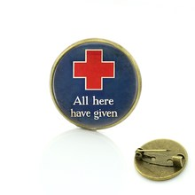 Tafree Klasik Palang Merah Dokter Perawat Lencana Bros Pin Perhiasan Bangga Menjadi Perawat Fashion Wanita Hiasan Bros CT210(China)