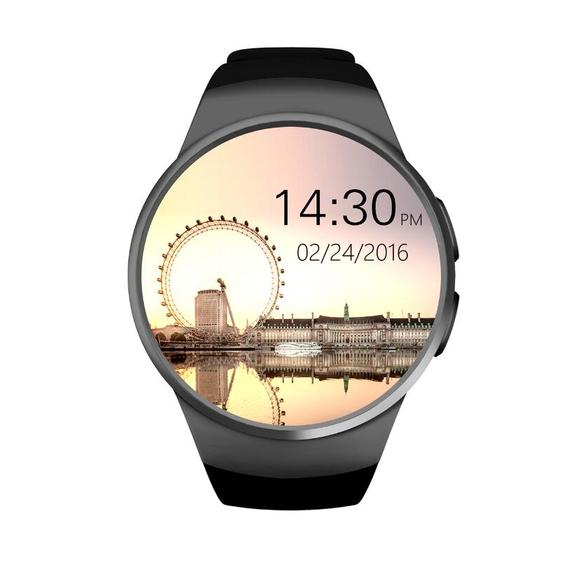Bluetooth KW18 <font><b>Smart</b></font> <font><b>Watch</b></font> Connected WristWatch for Samsung HTC Huawei <font><b>LG</b></font> Xiaomi Android Smartphones Support Sync Call Messager