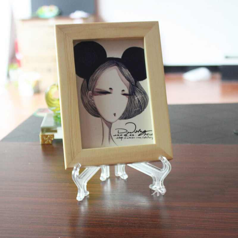 "1pc 1 inch home hot Plastic Display Easel Plate Picture Frame Stand Holder Folding Hinged 7"" free shipping(China (Mainland))"