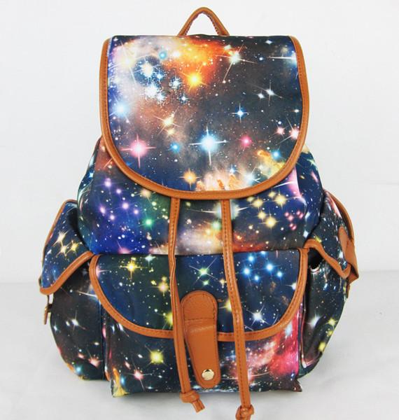 Мужская галактика пространство рюкзак путешествия рюкзак прочный холщовый мешок школа ...