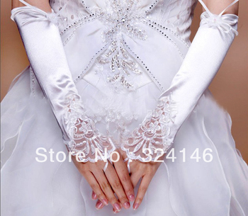 S142-Own factory made New Bridal gloves Wedding Glovesf ingerless gloves beautiful  noble gloves retail Wholesale