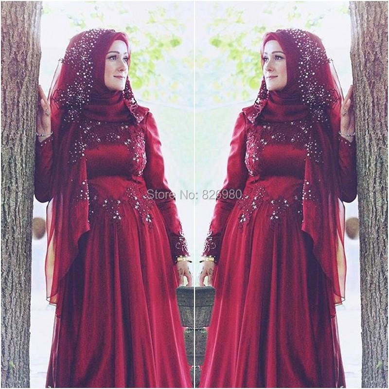 Excepcional Vestidos De Novia árabe Con El Hijab Componente - Ideas ...