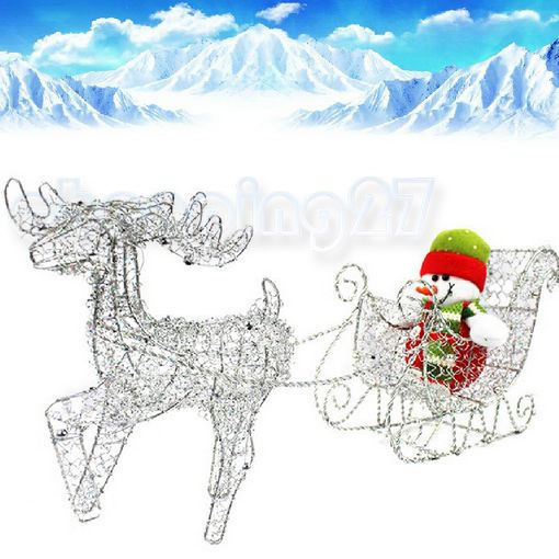 New Iron Shiny Santa Claus Deer Pulls Cart Wagon Without Snowman Christmas Gifts(China (Mainland))