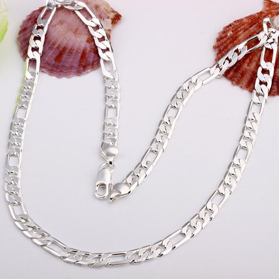 Wholesale 925 silver men s necklace 925 silver jewelry necklace 925 silver necklace free shipping LKN109