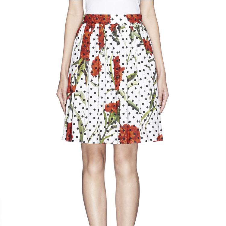 carnation print skirts black polka dot skirt a