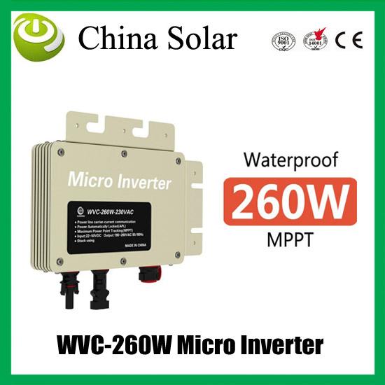 High Quality DC To AC Solar Grid Tie Micro Inverter WVC-260W(China (Mainland))