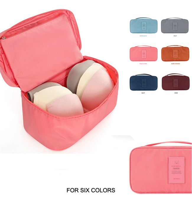 2015 HOT1pc high quality Portable Protect Bra Underwear Lingerie Case Travel Organizer Bag Waterproof travel accessories N646(China (Mainland))