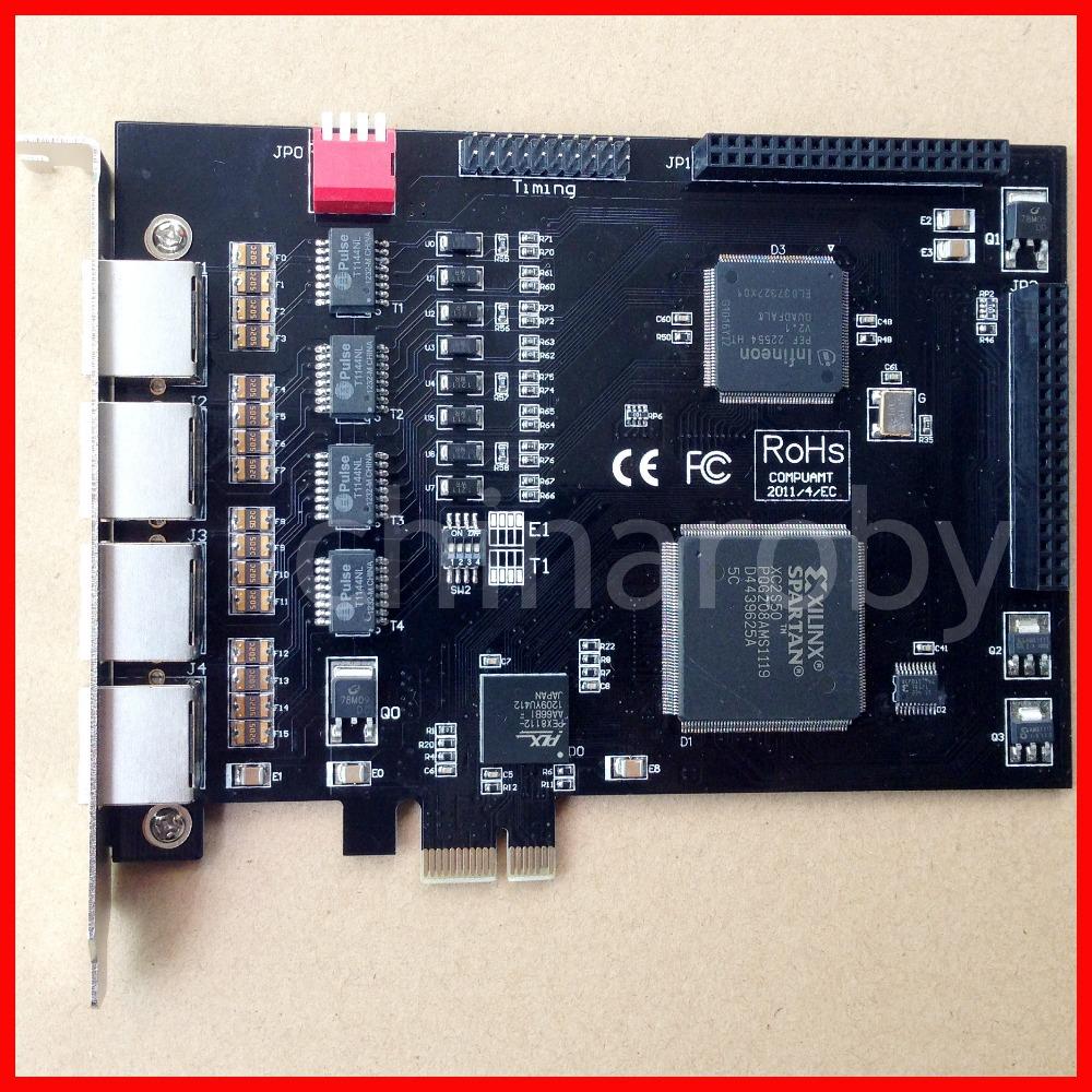 ISDN PRI card TE420,PCI-E Connector, E1 card,T1 Card,4 E1/T1 ports,Elastix Asterisk ,similar Sangoma A104DE,A104E,A104D TE435(China (Mainland))