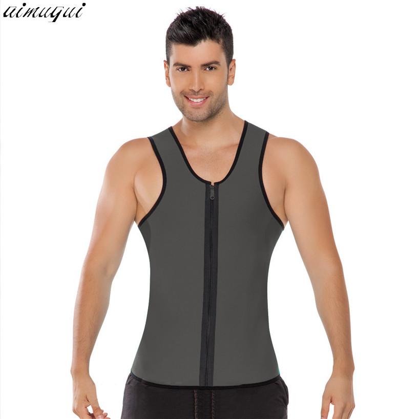 Men Ultra Sweat Thermal Muscle Shirt hot shapers Neoprene slimming body shaper belly waist and abdomen Belt Shapewear Tops Vest