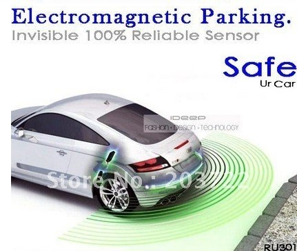 Retail 1pc/lot Electromagnetic parking sensor no holes and reverse backup assistance kit with buzzer Invisible packing sensor