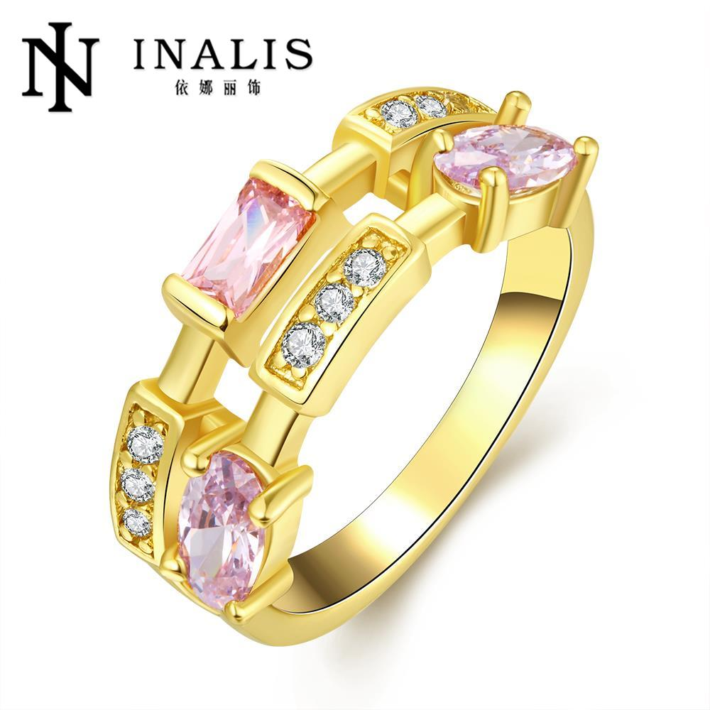 2016 new fashion finger bands gold plated ring austrian