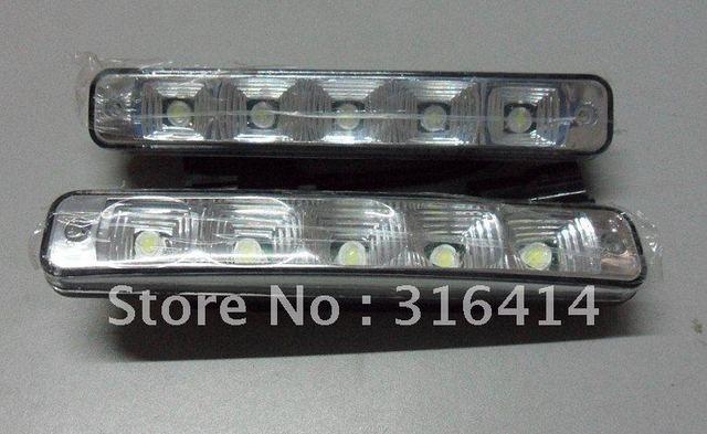 2015 new! 2x 5 LED Universal Waterproof White Daytime Running Day Light Lamp DRL