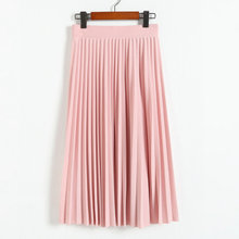 2016 spring all-match chiffon skirt waist fold slim skirt pleated skirt Department summer slim skirt(China (Mainland))