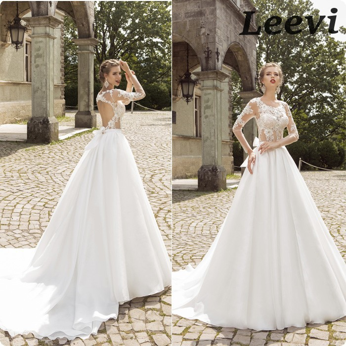 Vestidos de noiva vintage organze sexy lace backless for Vintage backless wedding dresses