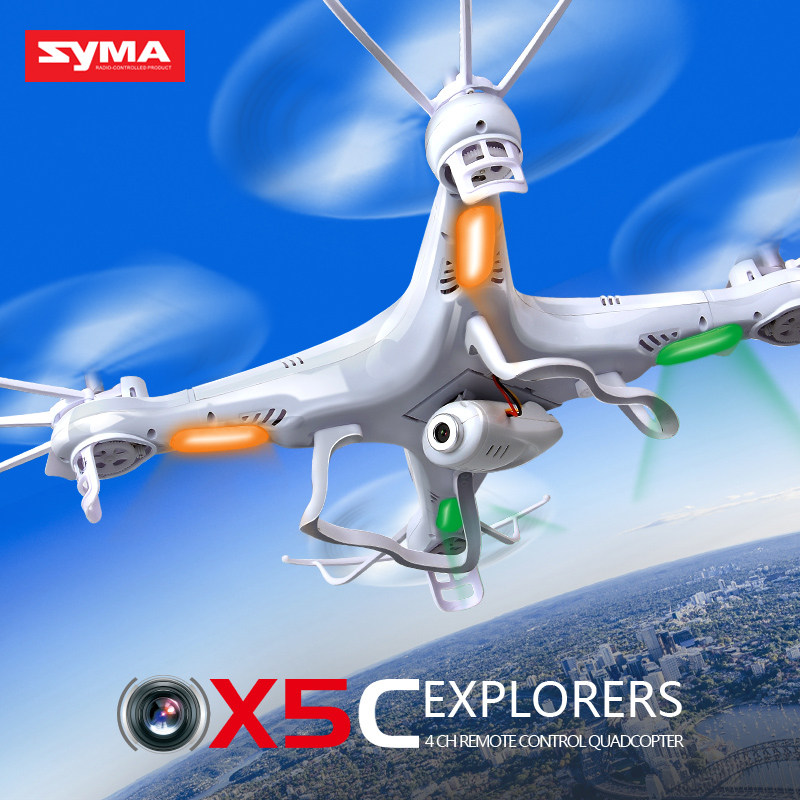 Original SYMA X5C Drone With HD Camera 4CH Axis Quadcopter LED Lights Headless Drone X5 RC Helicopter Without Camera Kids Toy