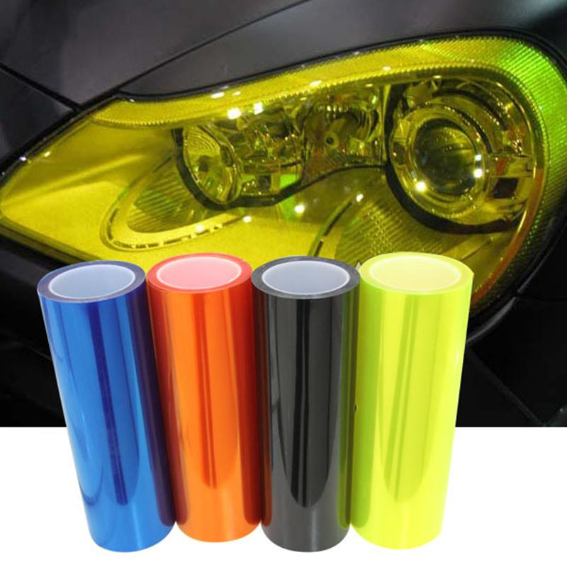 car styling 12 Colors 30x100cm Car Light Headlight Taillight Tint Vinyl Film Sticker Lamp Stickers Brake Light Car Accessories(China (Mainland))
