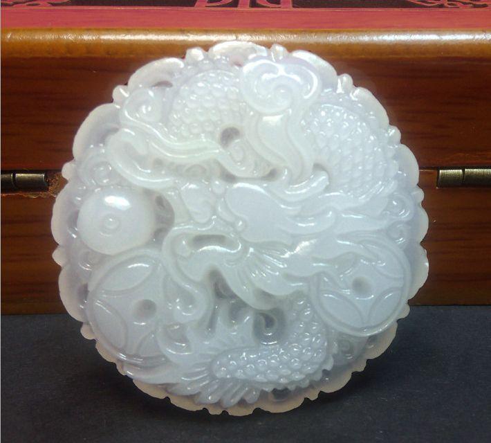 Natural White Dragon Jade Pendants.Free shipping.(China (Mainland))