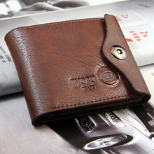 3 Fold Solid Color Carteira Masculina Couro Genuine Leather Men Wallet Desigual Man Hasp Coin Bag