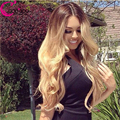 7A Grade Human Hair Wigs Natural Wave Brazilian Virgin Full Lace Wig / Lace Front Wigs Black Women With Baby Hair Bleached Knots