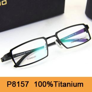 Brand New 2015 Original Spetacle Frame P8157 Fashion Pure Titanium Optical Frame Full-Rim Eyeglasses 8157 Eyewear Free Shipping(China (Mainland))