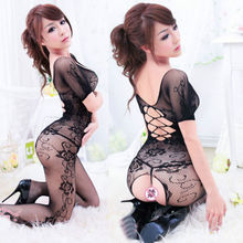 Women Sexy Lingerie Clothing Crotchless Fish net Body suit Body Stocking