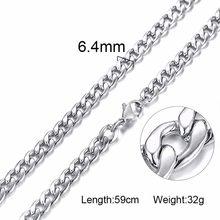 Srebrny złoty wypełniony solidny naszyjnik krawężniki łańcuchy Link mężczyźni Choker ze stali nierdzewnej męskie kobiece akcesoria moda(China)