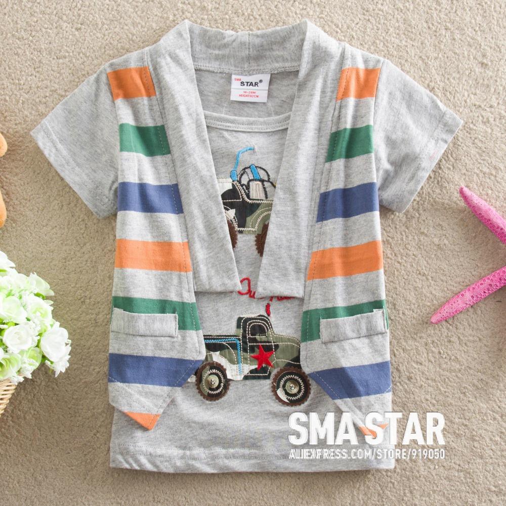 Wholesale Baby Boys Summer Brand Clothes Cartoon Car